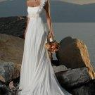 A-Line Sweetheart Chapel Train Chiffon Beach Wedding Dresses
