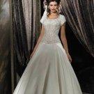 One-Shoulder Watteau Train Chiffon Charmeuse Bridal Dresses