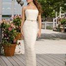 slim a-line summer strapless wedding dresses