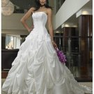 beading and embroidery decorating strapless wedding dresses