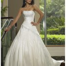 simple fashionable beach strapless wedding dresses