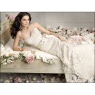 lace over satin lace sparkles with beads strapless wedding dresses
