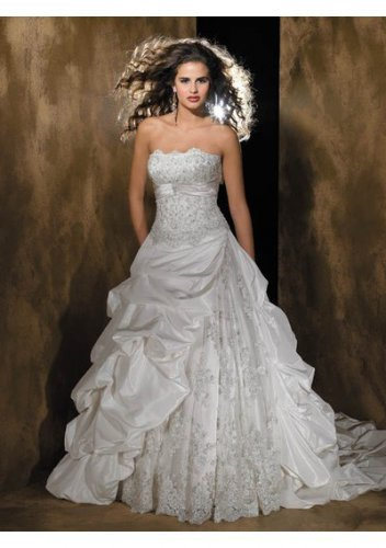 beach luxury fashionable strapless wedding dresses