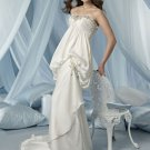 mermaid sweetheart chapel train charmeuse strapless wedding dresses