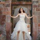 Pleated Chiffon Keen  Ivory Cheap Wedding Dresses