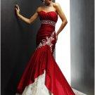 Mermaid Sweetheart Chapel Train Taffeta Lace colored wedding dresses