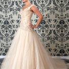 Chiffon Embroider Cheap colored wedding dresses