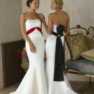 Strapless Mermaid colored wedding dresses