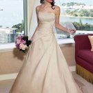 Gorgeous A-Line/Princess Strapless Wedding Dress with Lace