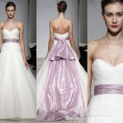 Sweetheart Chiffon Ball With Long Sash colored wedding dresses