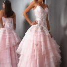 cheap halter ball gown sweep pink colored wedding dresses