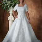 A-line Chapel Train Satin Plus Size Wedding Dresses