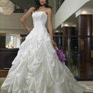 Ball-Gown Strapless Chapel Train Taffeta princess wedding dresses
