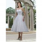 strapless sweetheart 2012 tea length a-line short wedding dresses