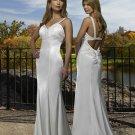 Sheer Straps V-neckline Beading simple wedding dresses
