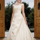 New Style Hot-Sale Cream V-neck Pleated simple wedding dresses