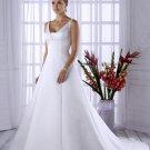 White V-neck simple wedding dresses