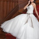 Sweetheart Floor Length Attached Organza Lace vintage wedding dresses