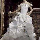 A-Line/Princess Off-the-Shoulder Floor-Length vintage wedding dresses