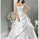 Hot sell beach custom made strapless wedding dresses 2012