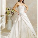 Sweetheart neckline with an strapless wedding dresses 2012