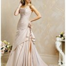 Cheap custom made beautiful strapless wedding dresses 2012