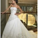 Beach luxury fashionable strapless wedding dresses 2012
