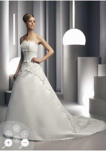 Fashionable flowery bright strapless wedding dresses