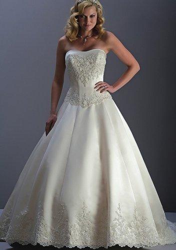 Formal luxury summer strapless wedding dresses