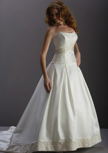Hot sell beach custom made strapless wedding dresses
