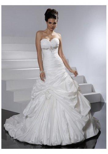 Sweetheart skirt pleated waistline wedding dresses