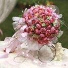 99 Small Tea bride holding flower bouquet Mei Series