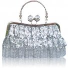 Bridal bag of bright sequined luxury chains