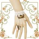 Lace bracelet ring set prom jewelry