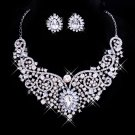 Silver necklace white diamond marriage