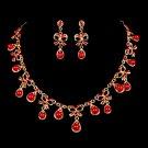 Red popular Rhinestone Bridal Necklace