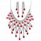 Luxury red wedding dress necklace
