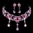 Cute pink Rhinestone Bridal Necklace