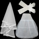 Three times double yarn petticoat veil gloves