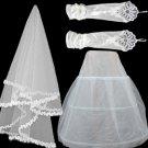 Three times double yarn petticoat veil gloves