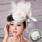 White feather headdress wedding garland