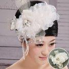The bride white flower head