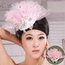The bride pink flower head