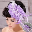 Purple flowers bridal hair accessories