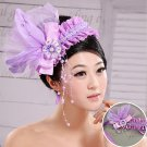New bright pearl of the bride purple flower heads