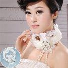 White bridal garland