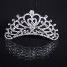 Brides sparkling diamond crown