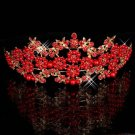 Red brides pearl crown