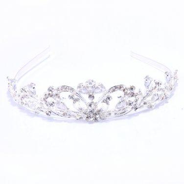Charming white name door Bridal Crown