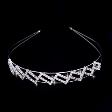 Silver wild styling bride Crown